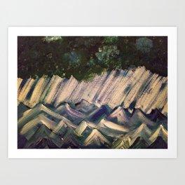 Turbulent Seas Art Print