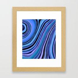 Mineralicious~Blue Agate Framed Art Print