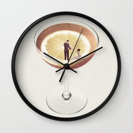 My drink needs a drink Wall Clock