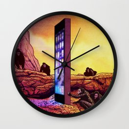 Ape Men meet iPhone Monolith - 2001 A Space Odyssey iCONSUME Wall Clock