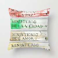 1984 Throw Pillows featuring Ministerios 1984 by Jorge Soriano