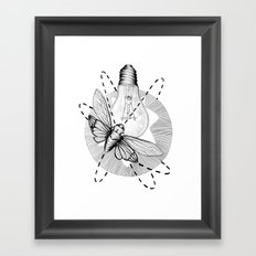 Moth to the Flame Framed Art Print