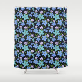 Forget -Me-Not flowers pattern Shower Curtain