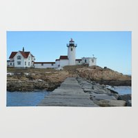 lighthouse Area & Throw Rugs featuring LIGHTHOUSE by OSSUMphotos