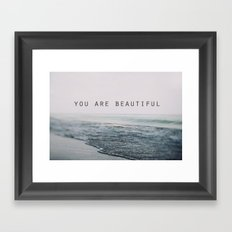You Are Beautiful #2 Framed Art Print