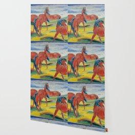 "Franz Marc ""Grazing Horses"" (III) Wallpaper"