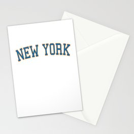 New York Sports College Font Stationery Cards
