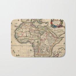 Vintage Map of Africa (1689) Bath Mat