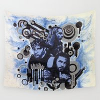 shield Wall Tapestries featuring The Shield by Bad Apple Art