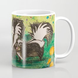 Skunk Picnic Coffee Mug
