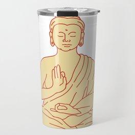 Gautama Buddha Sitting Lotus Position Drawing Travel Mug