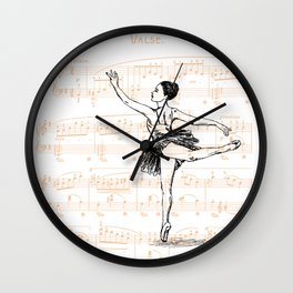 Ballerina print Wall Clock