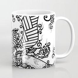 Zen Tree Rebirth White Right Half Coffee Mug