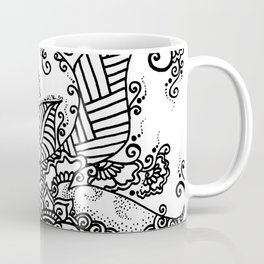Zen Tree Rebirth White Right Half Coffee Mug