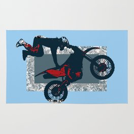 Flying Freestyle Moto-x Champ Rug