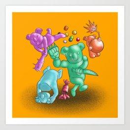 Scary Candy Koalas Art Print