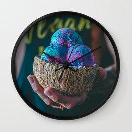 Vegan Unicorn Ice Cream Bowl Wall Clock