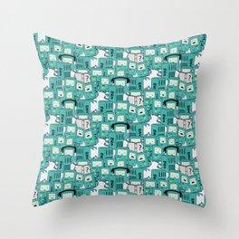 BMO patterns Throw Pillow