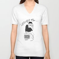 fear and loathing V-neck T-shirts featuring Fear and Loathing in Albuquerque (Breaking Bad) B&W by Evan