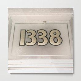 1338 Metal Print