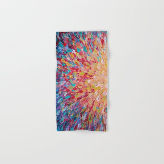 SPLASH - WOW Dash of Cheerful Color, Bold Water Waves Theme, Nature Lovers Modern Abstract Decor Hand & Bath Towel