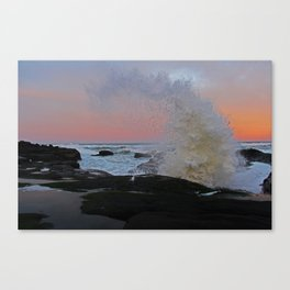 Strawberry Sunrise Splash Canvas Print