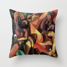 Selfie Cubista Throw Pillow