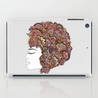 hair iPad Cases featuring Her Hair - Les Fleur Edition by Bianca Green