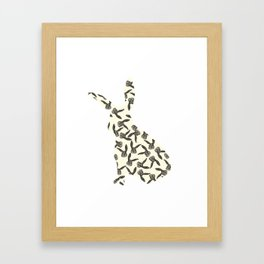 Pattern rabbit Framed Art Print