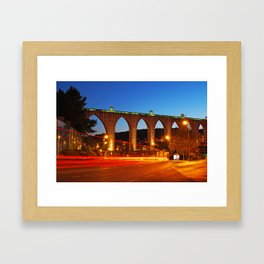 Aqueduct of the Free Waters in Lisbon Framed Art Print
