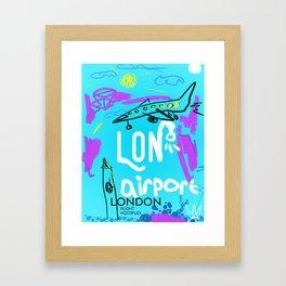 LON LONDON airports code Framed Art Print