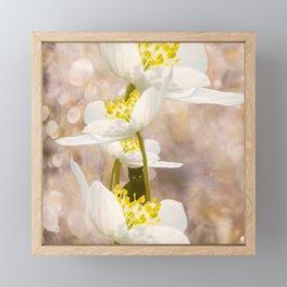 Black Cat With White Flowers #decor #buyart #society6 Framed Mini Art Print