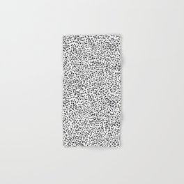 Nadia - Black and White, Animal Print, Dalmatian Spot, Spots, Dots, BW Hand & Bath Towel