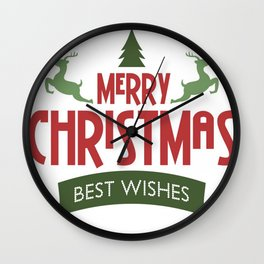 Merry Christmas Best Wishes Wall Clock