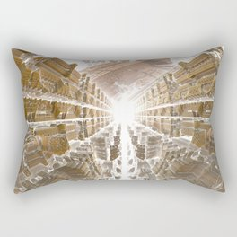 Dreamy Morning in the City Rectangular Pillow