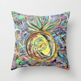 Miami Pineapple Throw Pillow