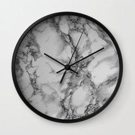 Gray and Black Marble Wall Clock