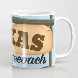 Texas By Stagecoach Coffee Mug