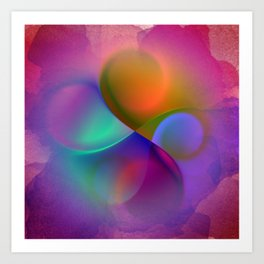 crossing colors -a- Art Print