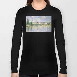 Vetheuil in Summer 1880 by Claude Monet Long Sleeve T-shirt