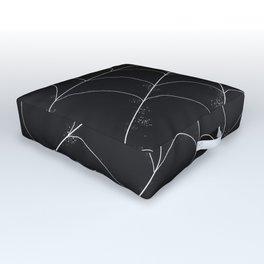 Spiderweb on Black Outdoor Floor Cushion