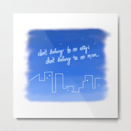 Hurricane Lyrics Metal Print