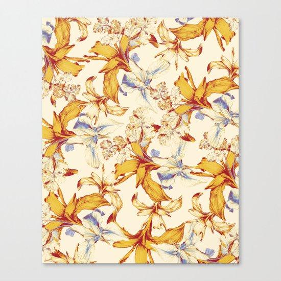 Irisses & Coriander Canvas Print