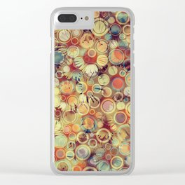 Dots on Flowers Clear iPhone Case