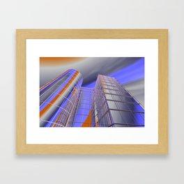 city -w3- Framed Art Print