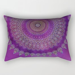 Precious Mandala in rich purple and pink tones Rectangular Pillow