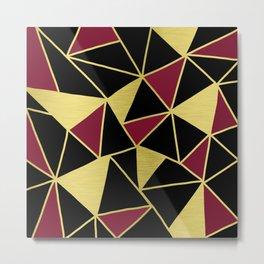 Golden Triangles Metal Print