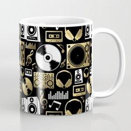 Discjockey Pattern | DJ Music Vinyl Turntables Coffee Mug