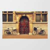 bicycles Area & Throw Rugs featuring Two Bicycles by Indigo Rayz