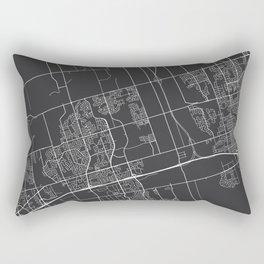 Ajax Map, Canada - Gray Rectangular Pillow